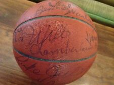 1964-65 Lakers/76ers Signed x23 J Walter Kennedy Game Ball Chamberlain/West+ JSA