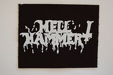 """Hell Hammer Cloth Patch Sew On Badge Black Metal Triptykon Approx 5""""X4"""" (CP236)"""
