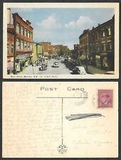 1947 Canada Postcard - New Brunswick - Moncton - Main Street Scene