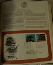 First Day Of Issue Dtegosaurus And Brontosaurus-1989 !