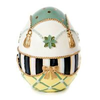 New Mackenzie-Childs Courtly Check  Coronation Egg In Sealed Box Medium