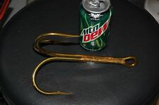 ONE Mustad 3551 Size 20/0 Bronze BIG Treble Hooks - Snagging Bridge Gaffs Gators