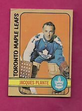 1972-73 OPC # 92 LEAFS JACQUES PLANTE GOALIE GOOD CARD (INV# 7505)