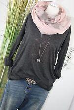 Vero Moda Laluna grau 34 Damen Bluse Top Shirt Pullover 0o5a