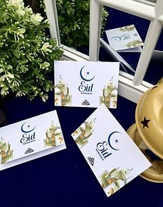 Beautiful Eid Greeting Cards X 14 x mini Cards/ Small Cards (103mmx70mm)-