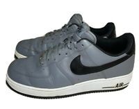 NIKE Air Force 1 One Low Lunar Grey/Black/White Shoes 488298-086 Men's Size 10.5