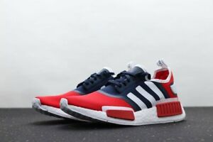 """Adidas NMD R1 Running Shoes """"USA"""" Red White Blue FV1734 Men's Multi Sizes NEW"""