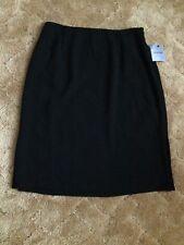 Alfani Black Lined Crinkle Skirt Side Zip Sm Belt Loops Size 10 NWT