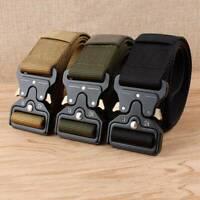 NEU Herren 4.3cm Armee Militär Gürtel Belt Taktischer Tactical Belt Sport eNwrg