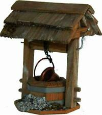 Nativity Accessories Fountain Wooden Well Hofbrunnen with Roof Height Ca. 12,5cm