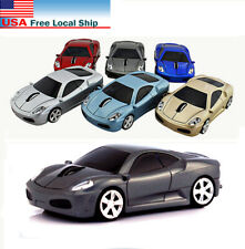 3D USB Wireless Car Optical mouse Gaming Mice 2.4Ghz led LIGHT for Laptop PC MAC