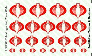 GI Joe Red Cobra Logo Waterslide Decals for 1/12 scale action figures