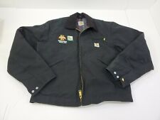 Carhartt USA  Made Black Blanket Lined Work Jacket Men's Size Large Seed corn