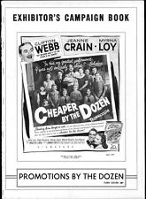 CHEAPER BY THE DOZEN pressbook, Clifton Webb, Jeanne Crain, Myrna Loy