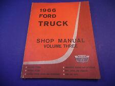 1966 Ford Truck Shop Manual Volume III Charging Starting Lighting Body Doors