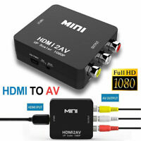Portable Mini Full HD 1080P HDMI to AV RCA Adapter Audio Composite Converter Box