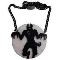 Werewolf Full-Moon Pendant Necklace Halloween Horror Accessory Kreepsville 666
