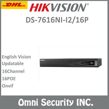 HIKVISION 16ch POE NVR DS-7616NI-I2/16P Up 12MP H.265 Onvif 2SATA Video Recorder