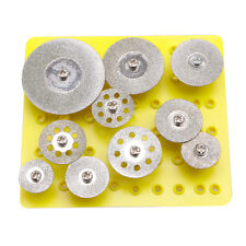 10x Diamond Coated Saw Cut Off Discs Wheel Blades Rotary For Grinder Tool Set