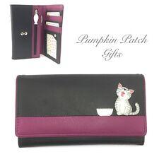 76ef0161d2 Medio Flap Sopra Borsetta Nero Portafoglio Mala Leather Ziggy gatto gattino  regalo 3411 _ 99