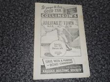 HALIFAX TOWN  v  BURTON ALBION  1955/6  F A CUP 2nd ROUND ~ DECEMBER 10th