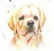 Fine Art Print GOLDIE the  LABRADOR DOG watercolour  HELEN APRIL ROSE  676