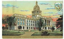 Embossed Gold - State Capital, Lincoln Nebraska - Postmark 1909