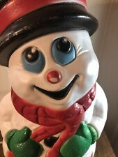 Vintage 1999 Blow Mold Snowman Lighted  17""