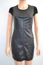 NWT Bailey 44 Black Faux Leather Front/Ponte Dress Size XS RET