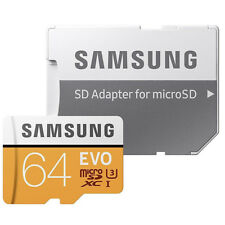 Samsung 64GB Class 10 UHS-1 U3 Evo 4K UHD MicroSD MicroSDXC 100MB/S Memory Card