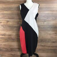 Lauren Ralph Lauren Sleeveless Sheath Dress Black Size 10 New
