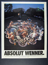 1996 Absolut WENNER Kurt Wenner 3-D pavement street art photo vintage print Ad
