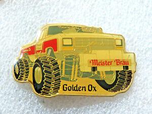 Miester Brau Golden OX Monster Truck Racing Pin Vintage Beer Collectible