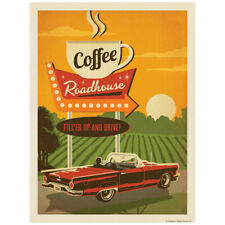 Coffee Roadhouse Diner Decal 26 x 34 Peel and Stick Kitchen Decor
