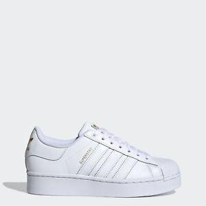 Baskets blanches adidas pour femme adidas Superstar   eBay