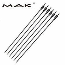 Archery Hunting Arrows 6/12pcs 30'' Carbon Shaft Vane Fletch Spine 500 Target
