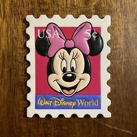 Vintage Walt Disney World Minnie Mouse USA 5¢ Stamp Magnet