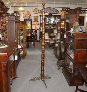 Antique Oak Barber Shop Hall Tree -1891 - Udell's Toilet Tree