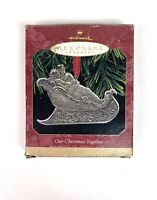 Hallmark Keepsake Ornament Our Christmas Together 1997 Pewter Couple Sleigh