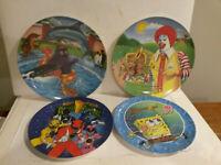MMPR Power Rangers Spongebob McDonalds McNugget Summer lot 4 plate Melmac