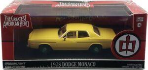 "Chase 1978 DODGE MONACO ""THE GREATEST AMERICAN HERO"" 1/43 CAR GREENLIGHT 86555"