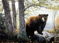 Morning Watch by Charles Frace Bear Print 27.75x22