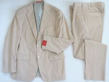 """NWT Authentic ISAIA Napoli Beige Cotton CASHMERE CORDUROY Suit IT-52 US-42 W-36"""""""