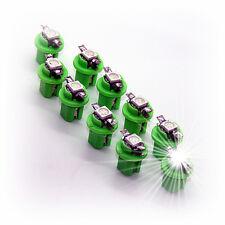 10x B8, 5d 5050 Led Cabina Tacómetro Instrumentos Iluminación Verde