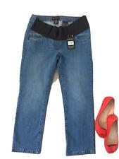 🌸 Next Uk8 L23 Petite Short Calf Ankle Mama Maternity Jeans Slim Skinny