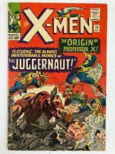 X-MEN #12 CGC 1STJUGGERNAUT & ORIGIN PROFESSOR X - KEY MARVEL! No Reserve.