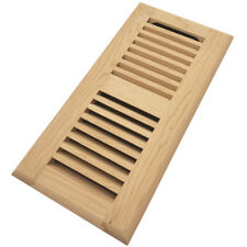 "Homewell 4"" x 10"" Maple Floor Register, Drop In Vent With Damper, Unfinished"