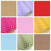 POLKA DOTS SPOTTED 100% COTTON POPLIN FABRIC CRAFT BUNTING QUILTING 112CM 44""