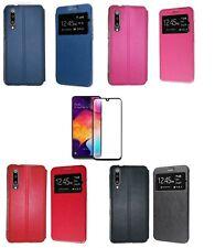 Funda Samsung Galaxy A50/A30S (6.4)  Libro ventana + Cristal Completo
