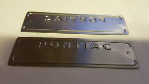 Vintage Pontiac Data Plate for restoration or replacement